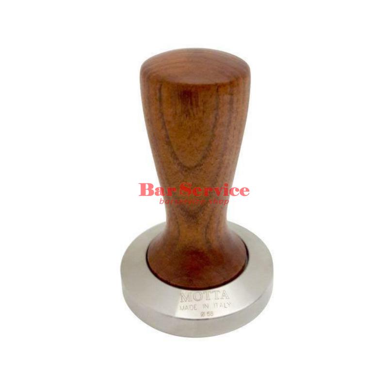 Темпер Мотта SLIM 58 мм. (плоский) рукоятка из дерева в Курске